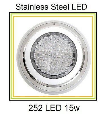 HQ Stainless Steel 252 LED Lights RGB 7 Colour Swimming Pool Spa Wall Mounted