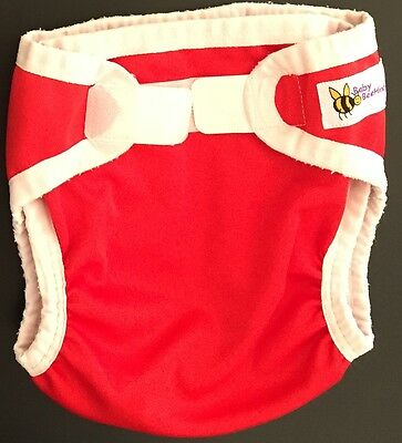 Baby BeeHinds large velcro MCN nappy cover - EUC, excellent elastics