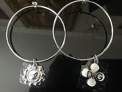 D&G Authentic earrings Earings Brand New Silver Hoop IN A GIFT BOX