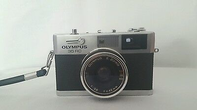 Olympus 35RC Camera With Case 1970s