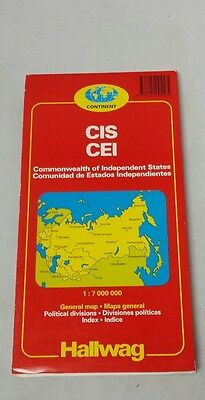 Rand McNally Hallwag Commonwealth of Independent States Map Russia Soviet Union