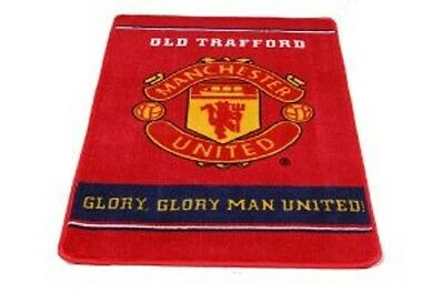 OFFICIAL PRODUCT MANCHESTER UNITED FOOTBALL CARPET RUG 67x100cm RED