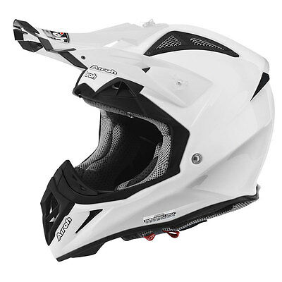 Airoh   Aviator 2.2 Color White Motorcycle Mx Motocross Offroad Enduro