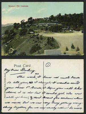 India Old Colour Postcard WESTERN HILL - CHAKRATA - Hills General View Panorama