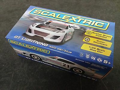 *** New *** Scalextric C3472 - GT Lightning Solo Blue Slot Car