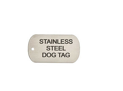 Dog Tag Engraved  Large Stainless Steel Pet ID Identity & Split Ring B