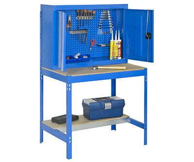 GARAGE WORKBENCH with TOOL CUPBOARD HEAVY DUTY, HOLDS UP TO 850KG!!