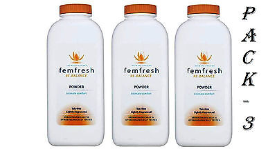 Femfresh Intimate Hygiene Talc Free Lightly Fragranced Absorbent 200 g Pack - 3