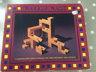 MARBLE MAZE Wooden Game Toy Vintage 1993 Excellent Condition