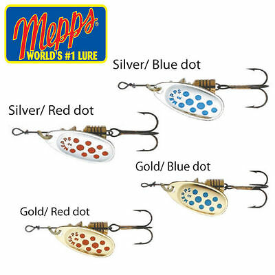 Mepps Comet Trout/Salmon/Bass/Perch Spinners Blue/Silver, Red/Silver, Gold/Blue