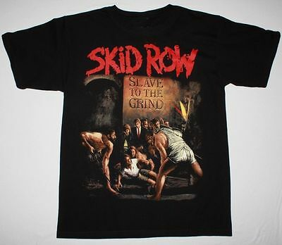 Skid Row Slave To The Grind Glam Rock Metal Poison Ratt New Black T-Shirt