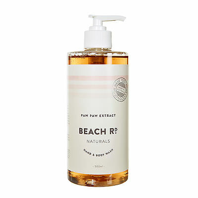 NEW Organic Paw Paw hand & body wash 500mL by Beach Road Naturals