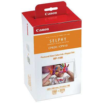 Genuine CANON Photo Printer Ink&Paper Set RP-108 for SELPHY CP1200 CP910 CP820