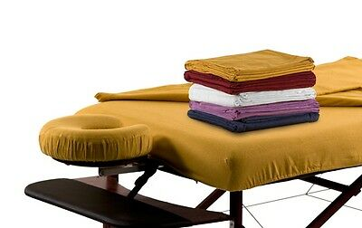 Flannel 3-pc Sheet-Set Massage Couch Cover Stretch Flat Sheet Face Pillow Cover