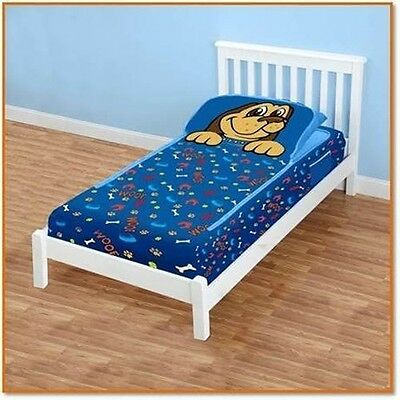 Zipit Friends Twin Bedding Set Blue Puppy Super Soft Fleece Polyester Multicolor