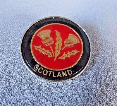 """Scotland International Clear Coated Round 1"""" Collectible Lapel Pin"""