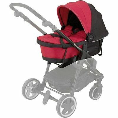 Kiddy Click 'N Move 3 Carrycot Cranberry Red Hard 56-120-CC-055 Mint