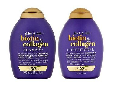 OGX Organix Thick & Full - Biotin & Collagen Shampoo & Conditioner 13oz
