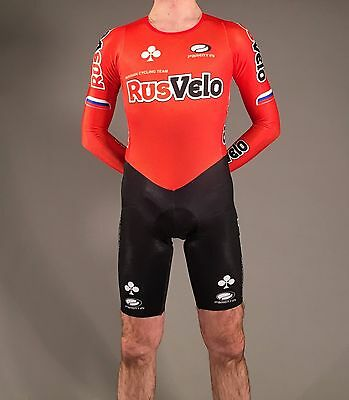 Rusvelo cycling team spandex skinsuit.Full lycra suit, zentai suit.