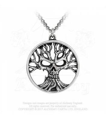 Alchemy Gothic - Gotik Tree Of Death - Pendant Goth Tree Of Life Metal New