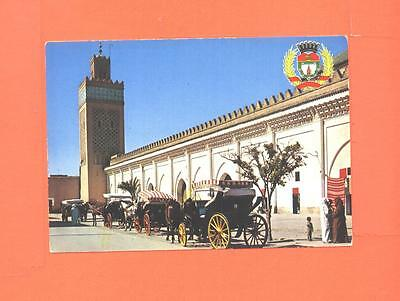 Z Postcard Marrakech Tombeaux Tomb Saadiens Horse And Coach