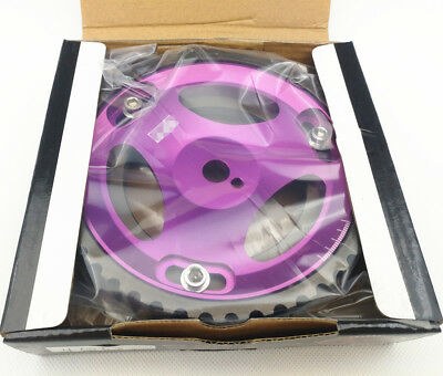 2Pcs Cam Gear Pulley Kit Fit Mitsubishi Lancer EVO 1-9 ECLIPSE DSM 4G63 purple