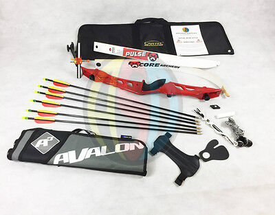 "Red 68"" Core Archery Jet Take Down Recurve Bow & Complete Package"