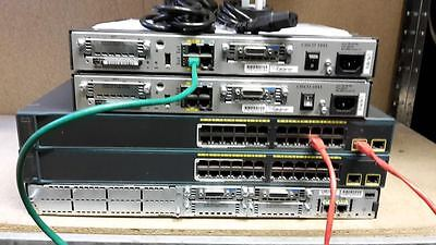 Cisco Ccna Ccnp Lab Two Ws-C2960-24Lt-L Two 1841 2811  Router Switch Ideal Lab