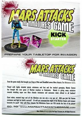 Mars Attacks Invasion The Miniatures Game Promo Card From Topps 2013