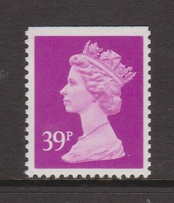 GB QEII MNH Machin Definitive Stamp SG X1058 P 14 39p BRIGHT MAUVE PP LITHO