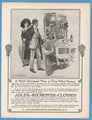 1911 L. Adler Brothers & Co Rochester NY James Montgomery Flagg Art clothing Ad