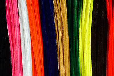 20 Chenille Stems Pipe Cleaner Craft 6mm 30cm Choose From 11 Colours Free UK P&P