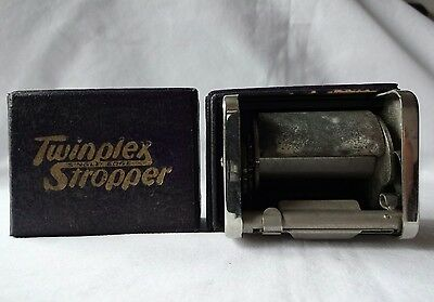 Vintage Twinplex Stropper With Original Box Instructions Advertising for Razors