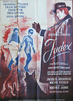 """Channing Pollock in """"JUDEX"""" Poster 1963 - Ready for framing and for you!"""