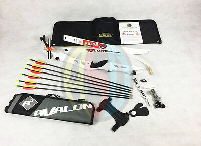 "White 70"" Core Archery Jet Take Down Recurve Bow & Complete Package"