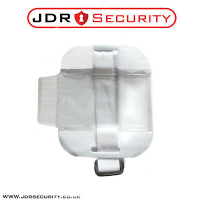 High QUALITY Hi Vis White SIA ID Badge Holder - Security Event Warehouse Staff