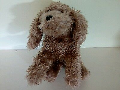 "RUSS BERRIE CURLY FLUPPY DOG  PUPPY PLUSH SOFT TOY 14"" Spare scruffy puppy toy"