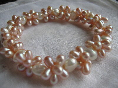 Qvc Honora Cultured Freshwater Pearl Cluster Bracelet