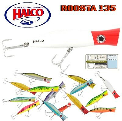 Halco Top Water Lure   Roosta Popper 135