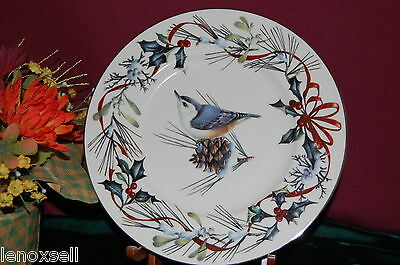 Lenox WINTER GREETINGS Accent Plate Nuthatch NEW USA