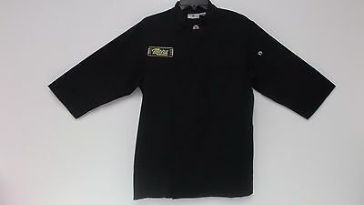 Chef Works JLCL-BLK-S Basic 3/4 Sleeve Chef Coat, Black, Small (HAS A INITAL)