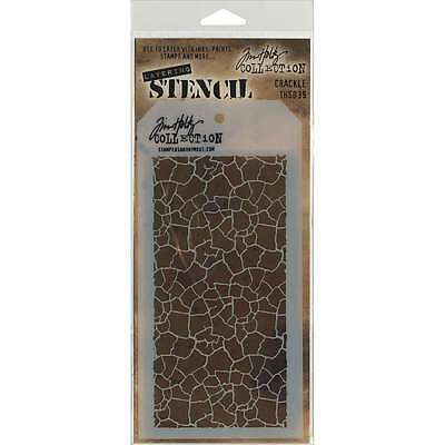 Tim Holtz Layered Stencil 4.125 Inch X 8.5 Inch-Crackle 748252602657