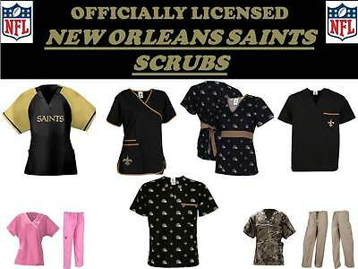 0c682ad0812 New Orleans Saints Scrub Top-New Orleans Saints Scrub Pants-Saints Nfl  Scrubs