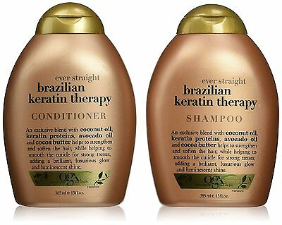 OGX Organix Brazilian Keratin Smooth Shampoo & Conditioner 385 ml / 13oz