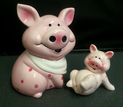 Collectable Pig and Baby Pig Ornament Novelty Money Box / Piggy Bank