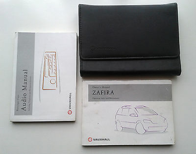 Vauxhall  Zafira  Owners Manual / Handbook / Wallet 2002