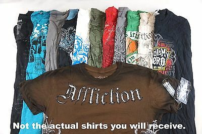 Mens Graphic Tees Lot of 10 Random w 1 Affliction BEST DEAL COOLEST Shirts!