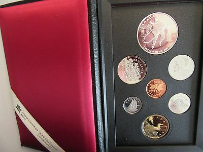 1993 Proof Set of Canadian Coinage Stanley Cup .925 Silver Dollar, 7 coin set #2