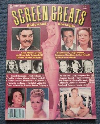 Screen Greats magazine, Hollywood Nostalgia vol.1 Marilyn Monroe,Jean Harlow +