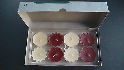 Partylite Set Of 8 Vanilla/cinnamon Orange Floater Candles F1001 - New In Box